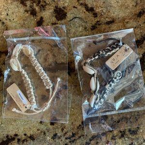 VSCO shell braided bracelet